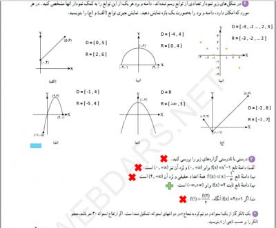 2 فصل 5 - گام به گام فصل پنجم ریاضی دهم|تابع
