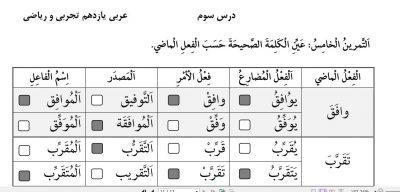 11نمونه 2 درس سوم - گام به گام درس سوم عربی یازدهم | رشته تجربی و ریاضی