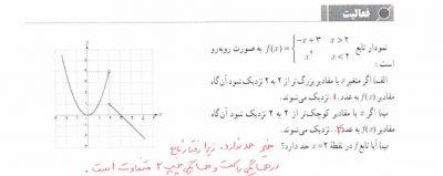 حل تمرین فصل پنجم حسابان یازدهم ریاضی