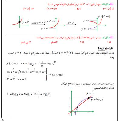 22 - جزوه فصل سوم حسابان یازدهم ریاضی ( توابع نمایی و لگاریتمی)